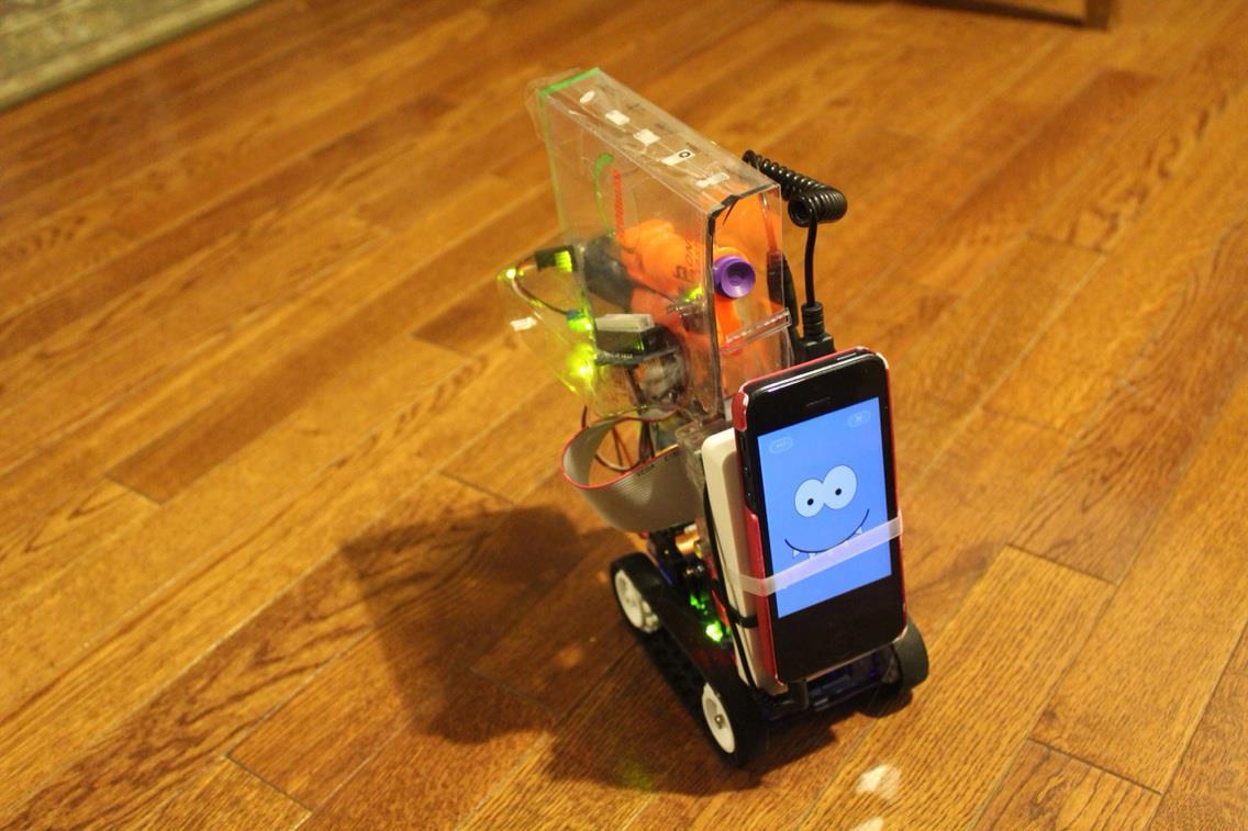 The crime-fighting nerf-gun robot