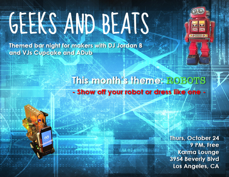 Geeks and Beats Robot Flyer